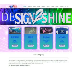 Design 2 Shine Front Page