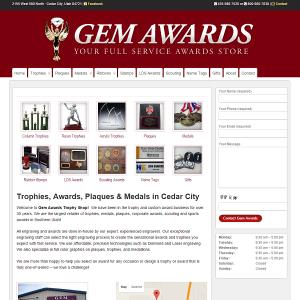 Gem Awards cover sheet