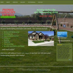 Premier Landscape Services cover sheet