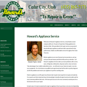 Howard's Appliance Service cover sheet