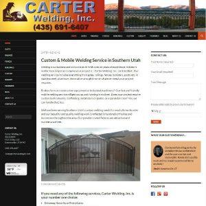 Carter Welding, Inc. cover sheet