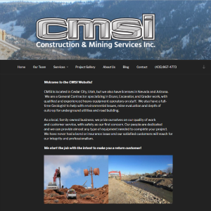 Construction & Mining Services, Inc. cover sheet
